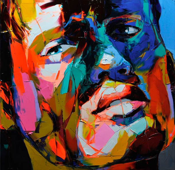 Francoise Nielly Portrait Palette Painting Expression Face055