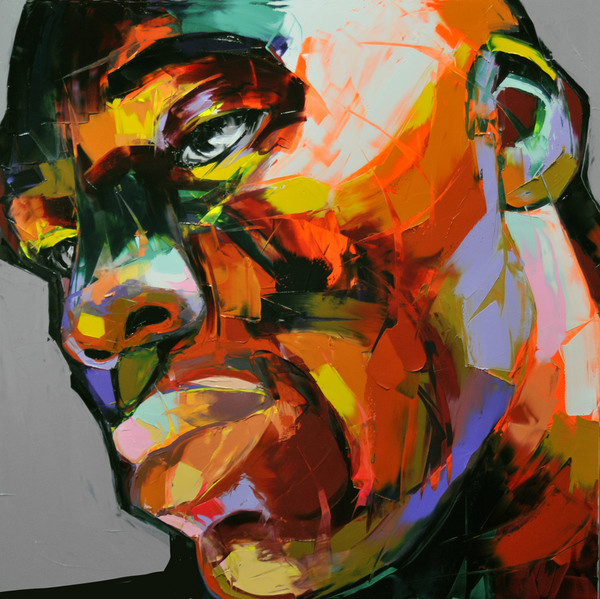 Francoise Nielly Portrait Palette Painting Expression Face057