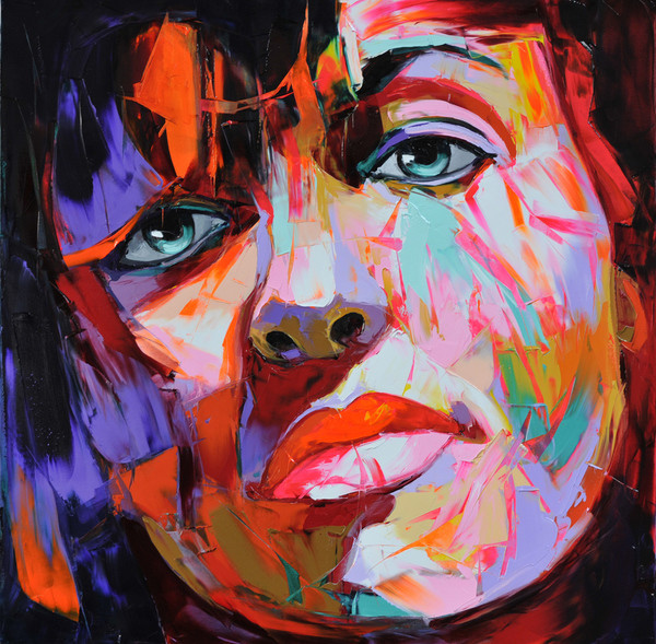 Francoise Nielly Portrait Palette Painting Expression Face058