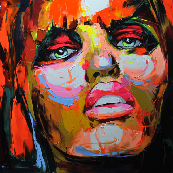 Francoise Nielly Portrait Palette Painting Expression Face060