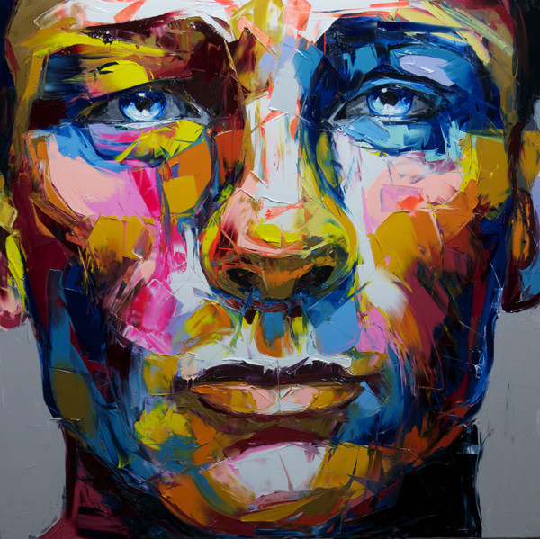 Francoise Nielly Portrait Palette Painting Expression Face065