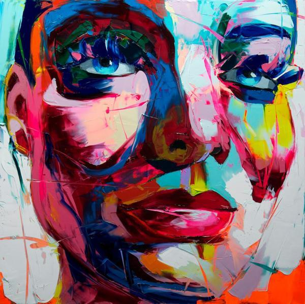 Francoise Nielly Portrait Palette Painting Expression Face068