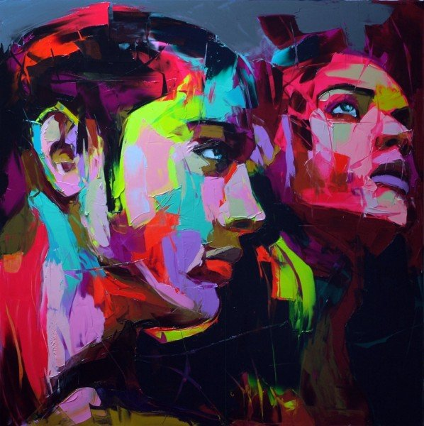 Francoise Nielly Portrait Palette Painting Expression Face073