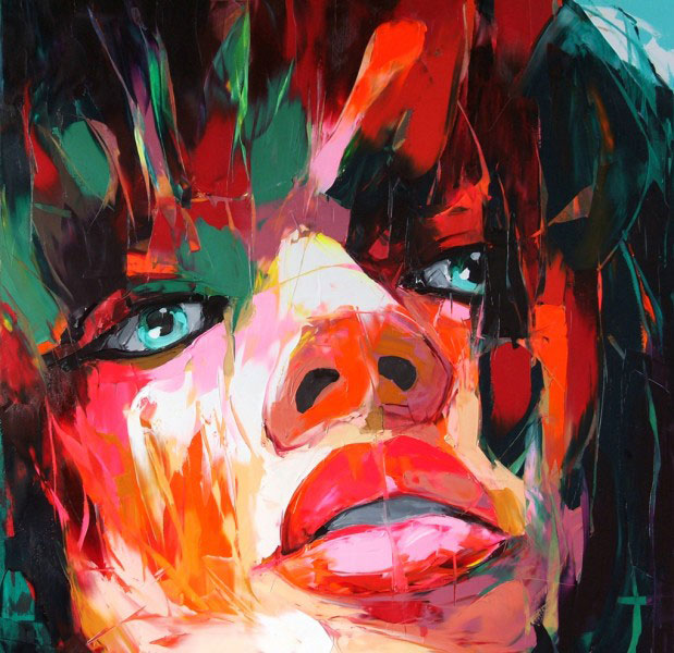Francoise Nielly Portrait Palette Painting Expression Face075