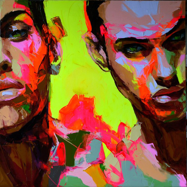 Francoise Nielly Portrait Palette Painting Expression Face072