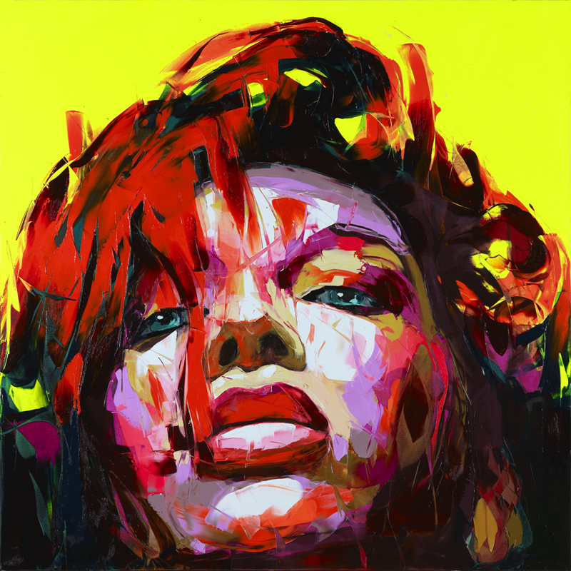 Francoise Nielly Portrait Palette Painting Expression Face082