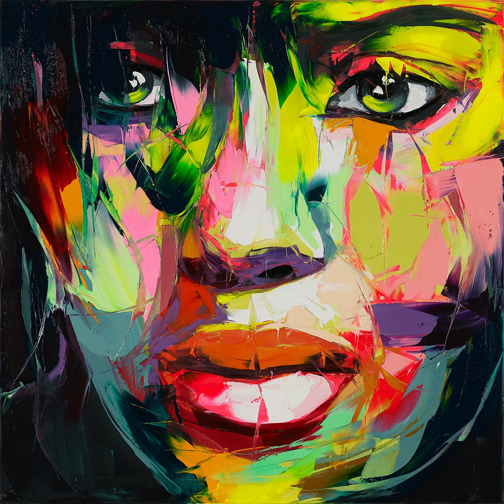 Francoise Nielly Portrait Palette Painting Expression Face096