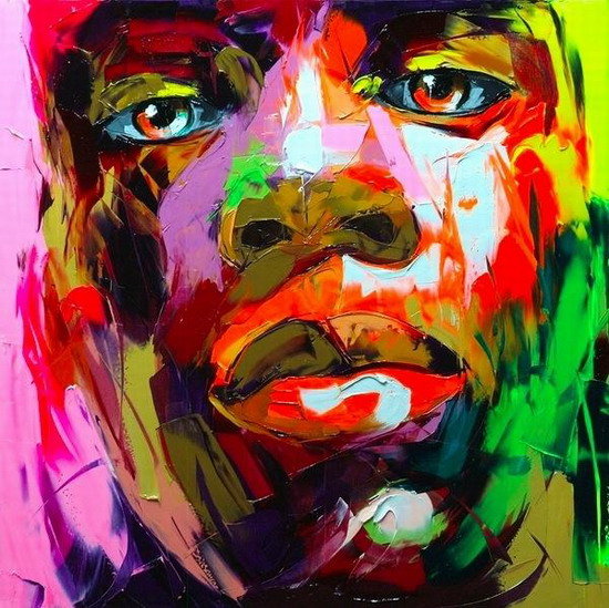 Francoise Nielly Portrait Palette Painting Expression Face102
