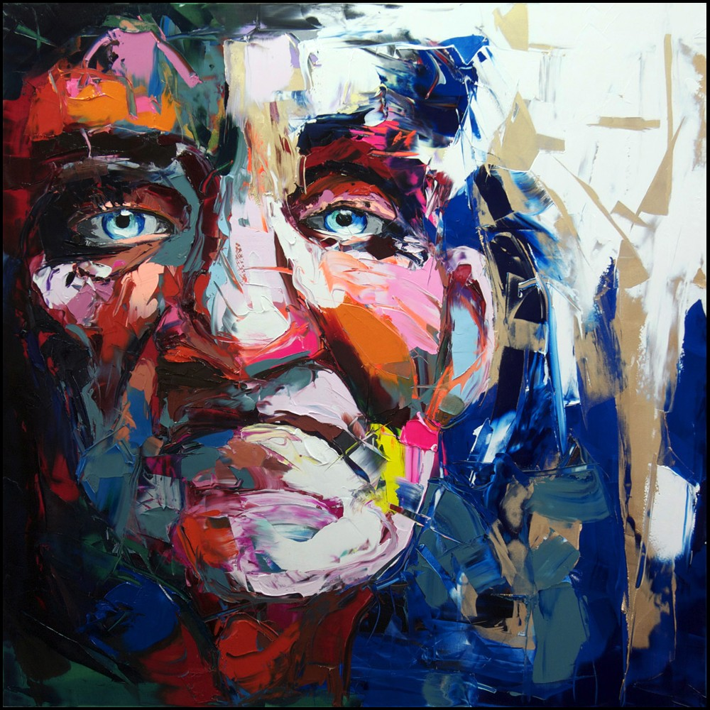 Francoise Nielly Portrait Palette Painting Expression Face112