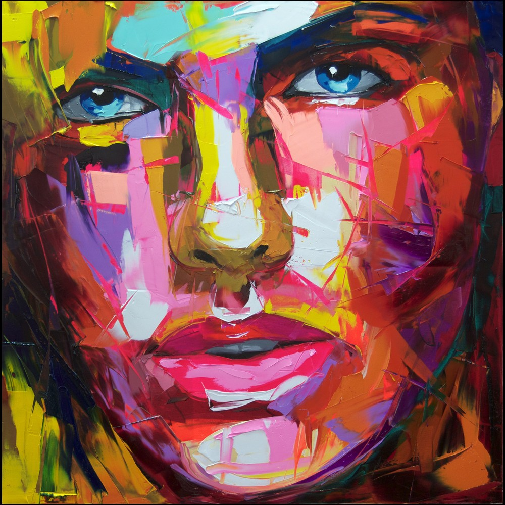 Francoise Nielly Portrait Palette Painting Expression Face128