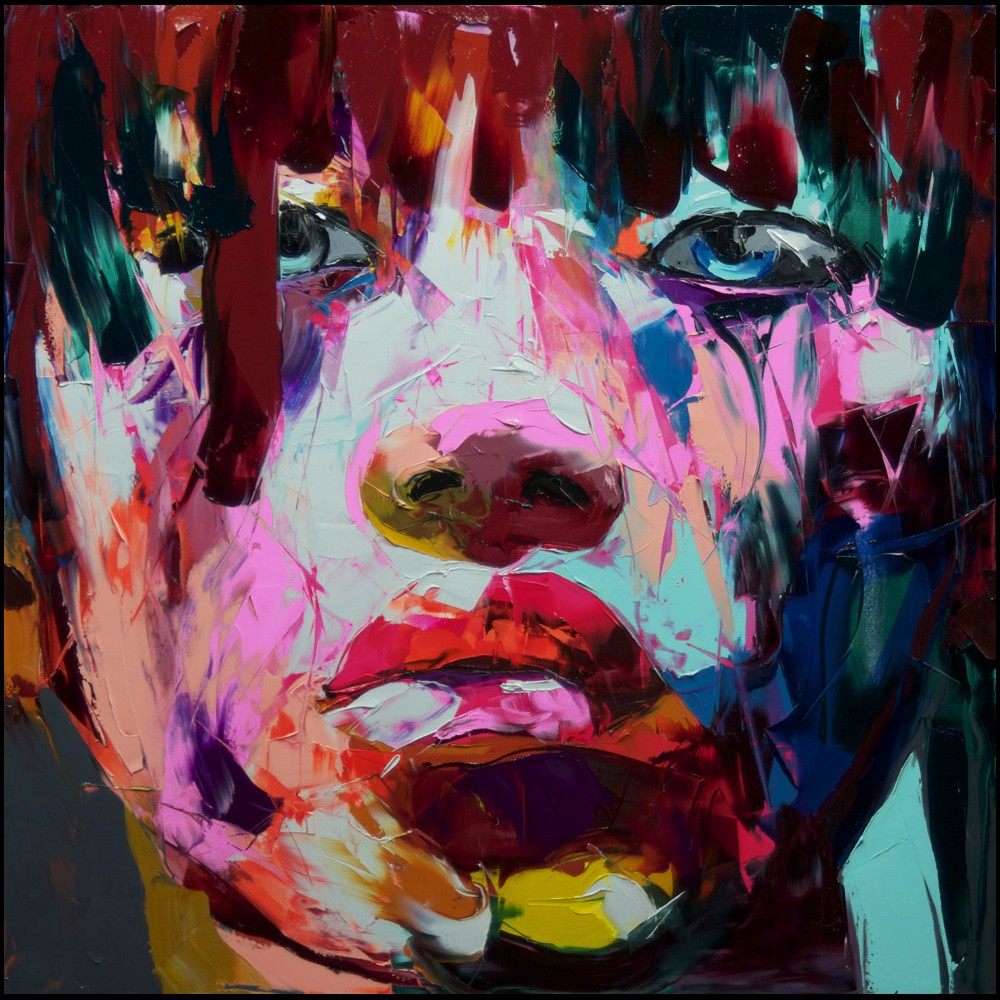 Francoise Nielly Portrait Palette Painting Expression Face131