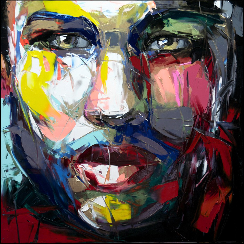 Francoise Nielly Portrait Palette Painting Expression Face135