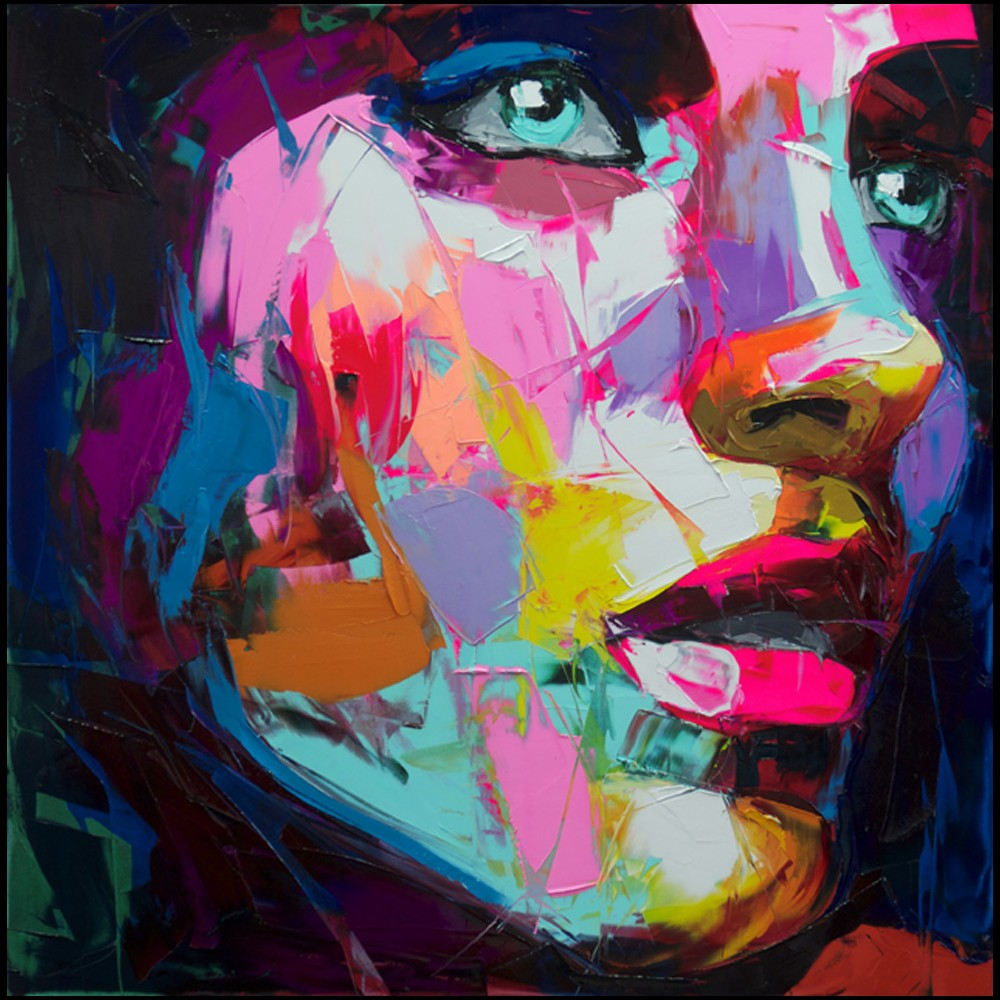 Francoise Nielly Portrait Palette Painting Expression Face137