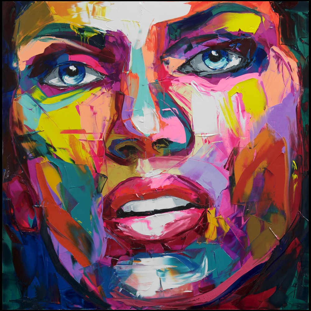 Francoise Nielly Portrait Palette Painting Expression Face140