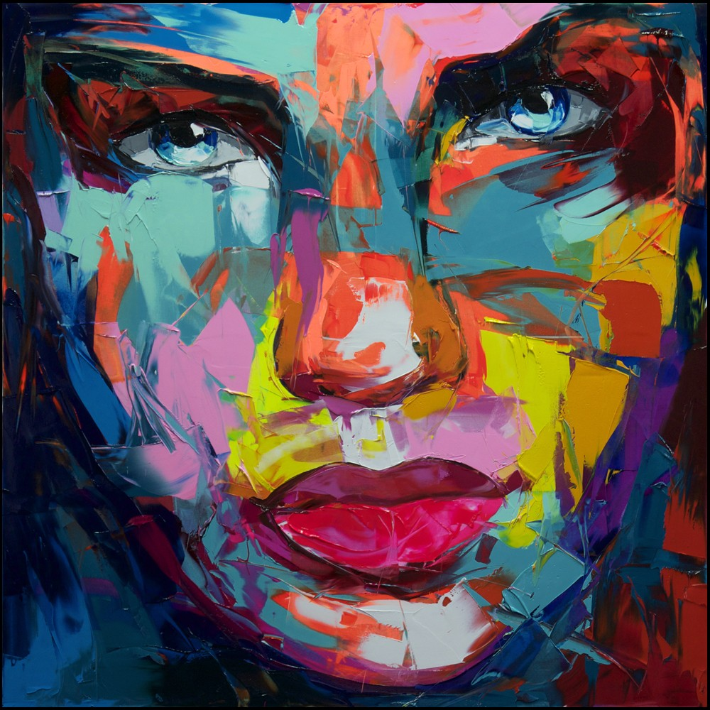 Francoise Nielly Portrait Palette Painting Expression Face159