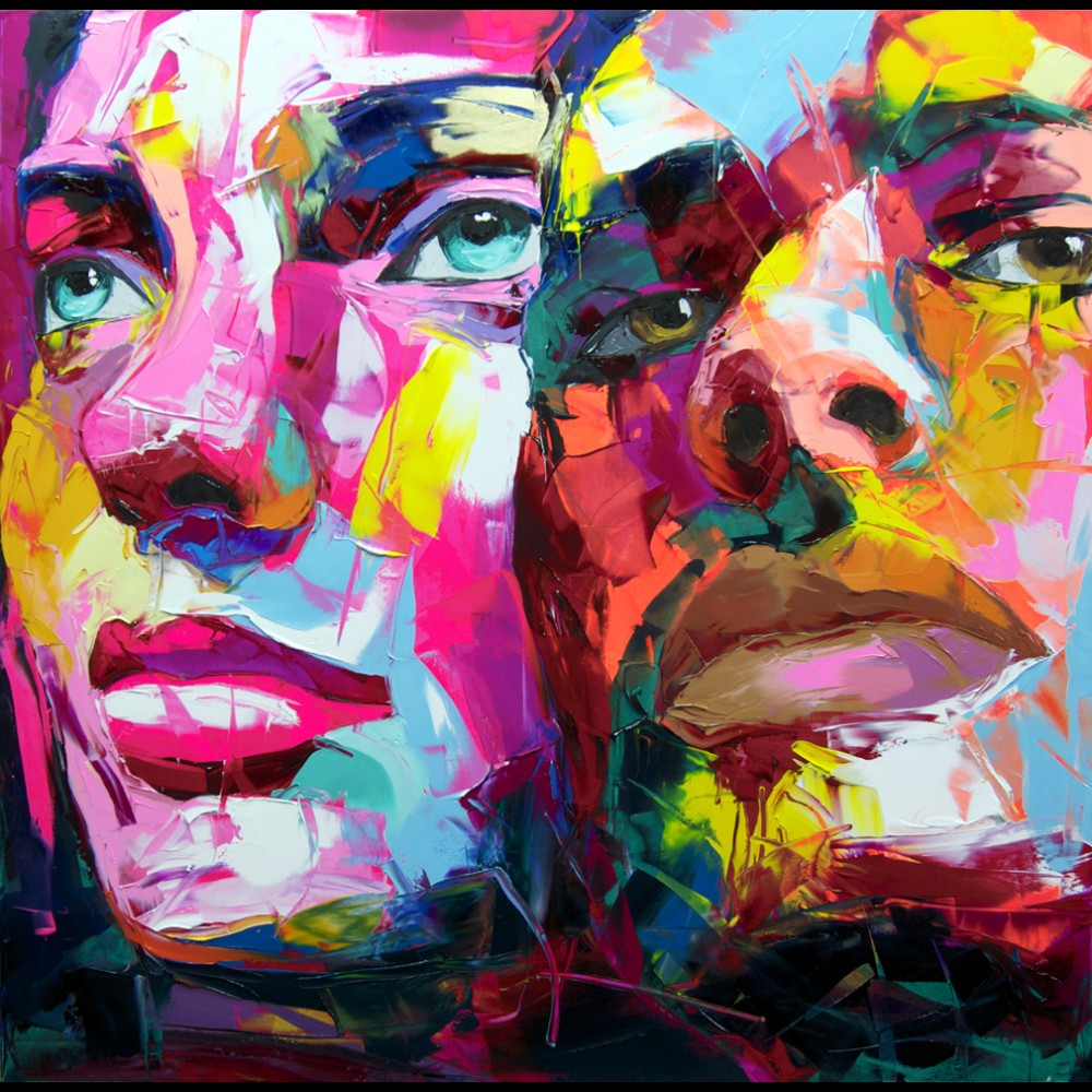 Francoise Nielly Portrait Palette Painting Expression Face173