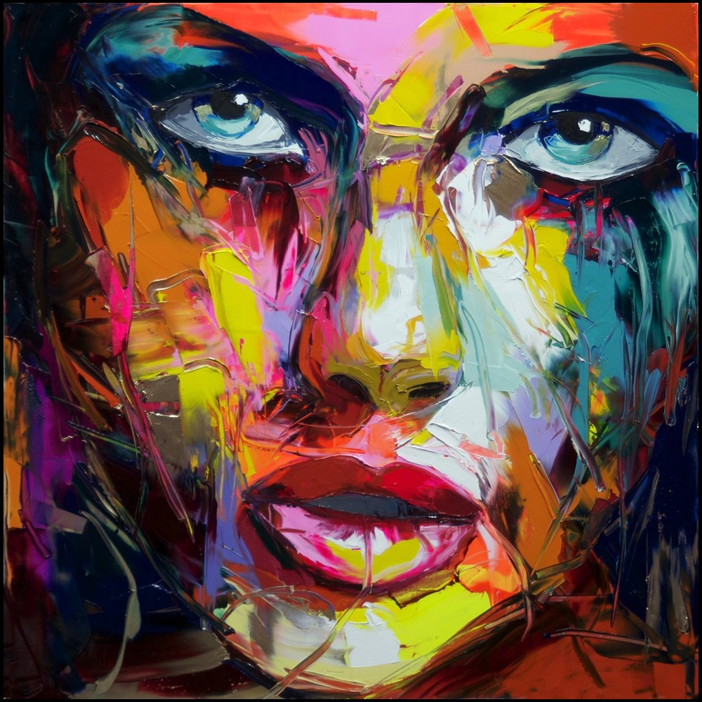 Francoise Nielly Portrait Palette Painting Expression Face175