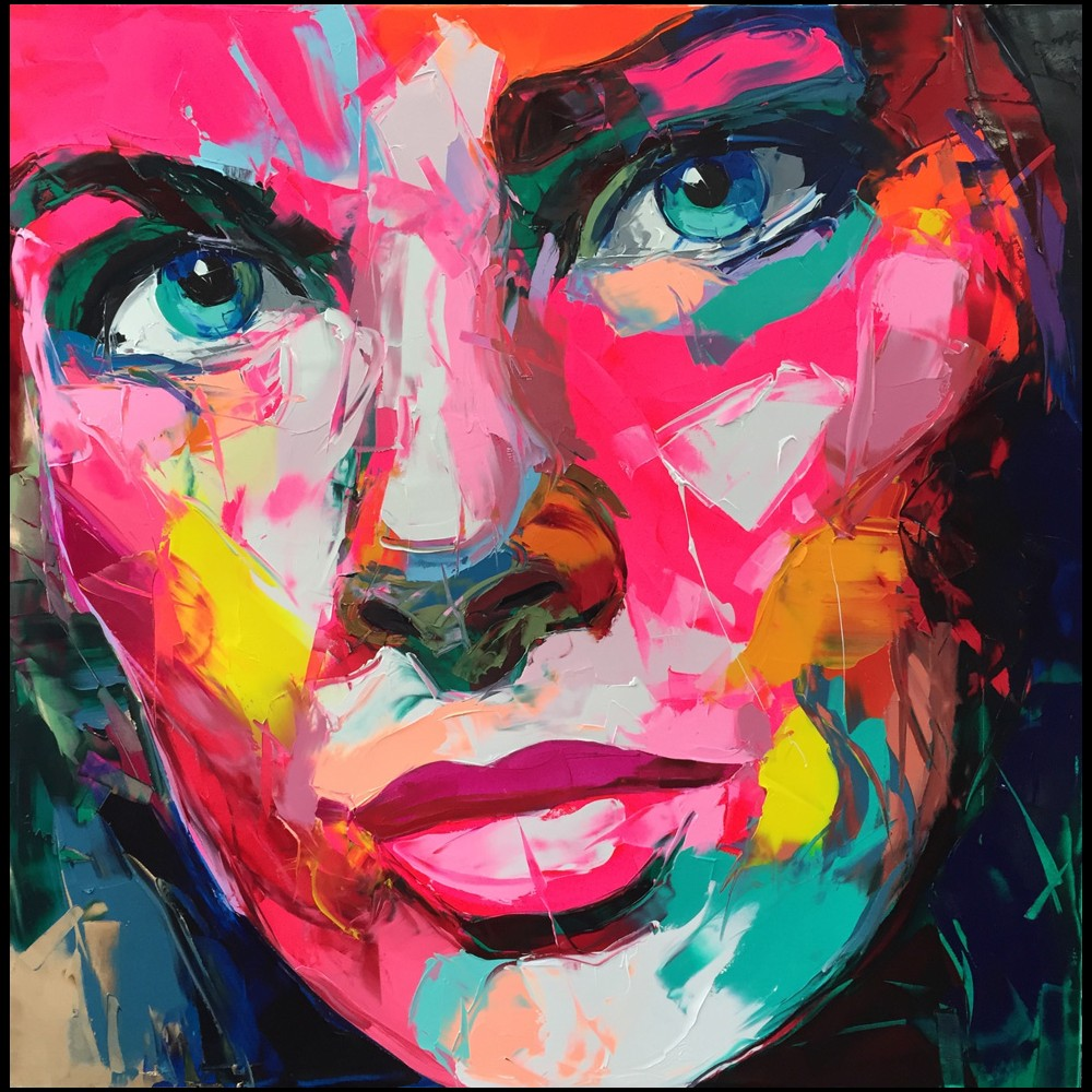 Francoise Nielly Portrait Palette Painting Expression Face204