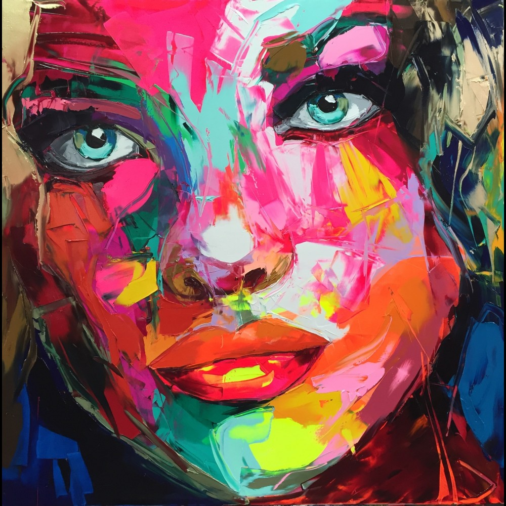 Francoise Nielly Portrait Palette Painting Expression Face207
