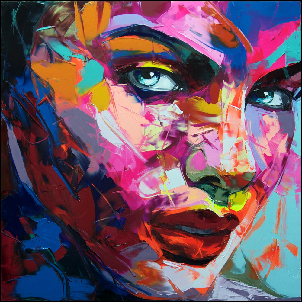 Francoise Nielly Portrait Palette Painting Expression Face209