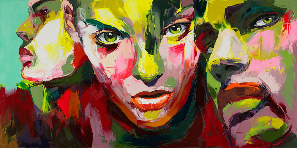 Francoise Nielly Portrait Palette Painting Expression Face250 - Click Image to Close