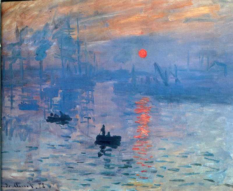 Cloude Monet Oil Painting Impression, sunrise 1872