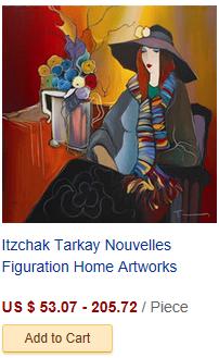 Itzchak Tarkay Nouvelles Figuration Home Artworks Modern Sen...