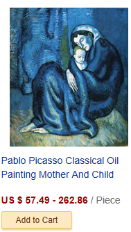 Pablo Picasso Classical Oil Painting The Soup La Soupe 100% ...