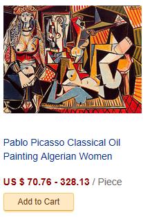 Pablo Picasso Classical Oil Painting Algerian Women Delacroi...