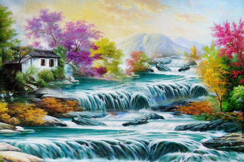 Thomas Kinkade Oil Painting