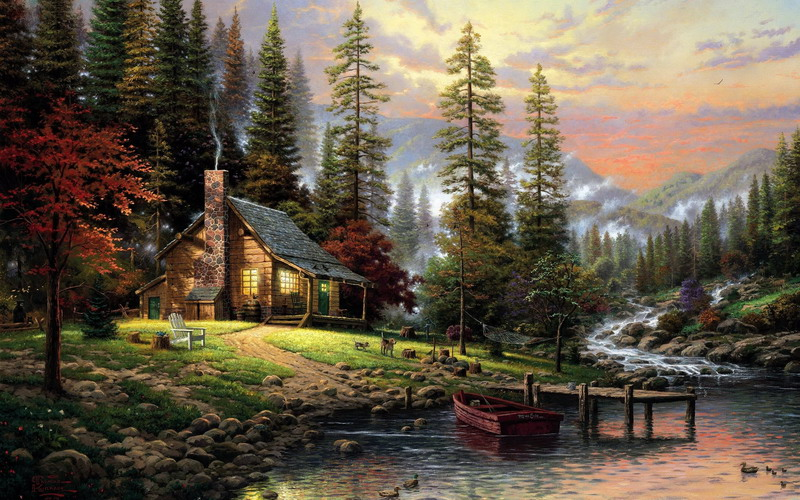 Modern Pretty Landscape oil painting TK095