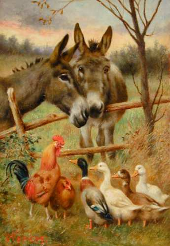 Dafen Oil Painting on canvas -animal010