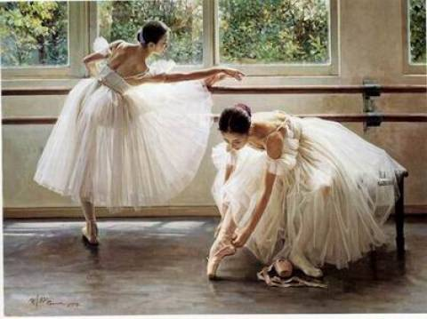 Dafen Oil Painting on canvas -ballet02