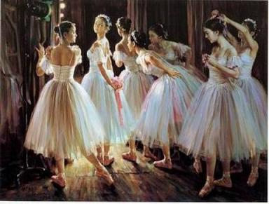 Dafen Oil Painting on canvas -ballet03