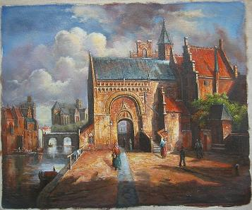 Dafen Oil Painting on canvas -building07
