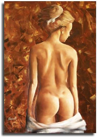 Dafen Modern Naked Portraiture Oil Painting on canvas -figure078