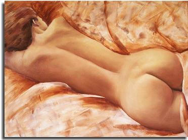 Dafen Modern Naked Portraiture Oil Painting on canvas -figure079