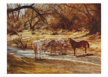 Dafen Oil Painting on canvas -horse013
