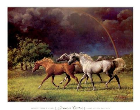 Dafen Oil Painting on canvas -horse019