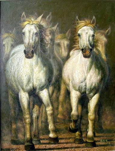 Dafen Oil Painting on canvas -horse036