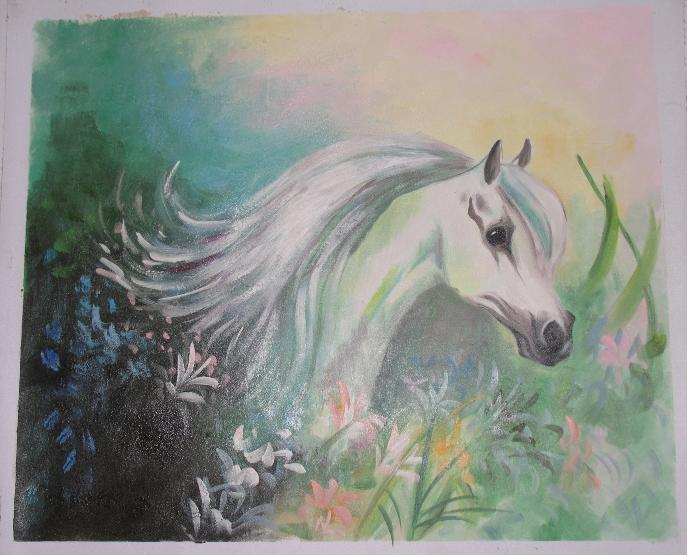 Dafen Oil Painting on canvas -horse040