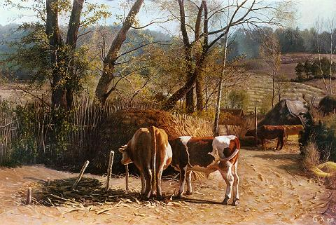 Dafen Oil Painting on canvas -horse048