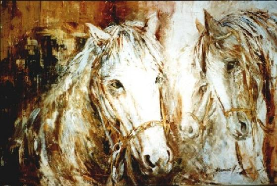 Dafen Oil Painting on canvas -horse052