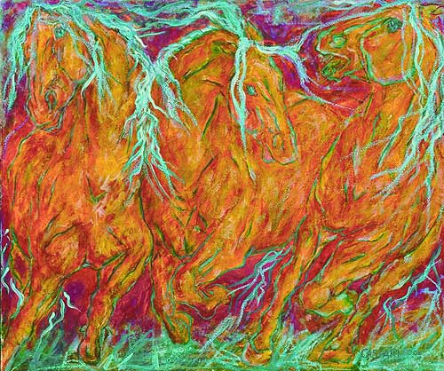 Dafen Oil Painting on canvas -horse055
