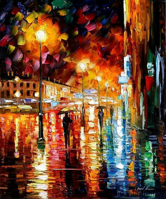 Modern impressionism palette knife oil painting kp003