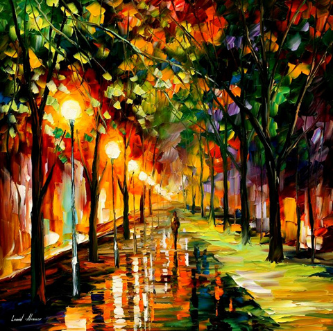 Modern impressionism palette knife oil painting kp006