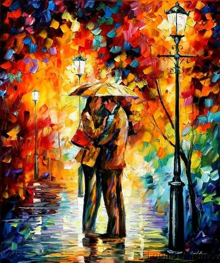Modern impressionism palette knife oil painting kp007