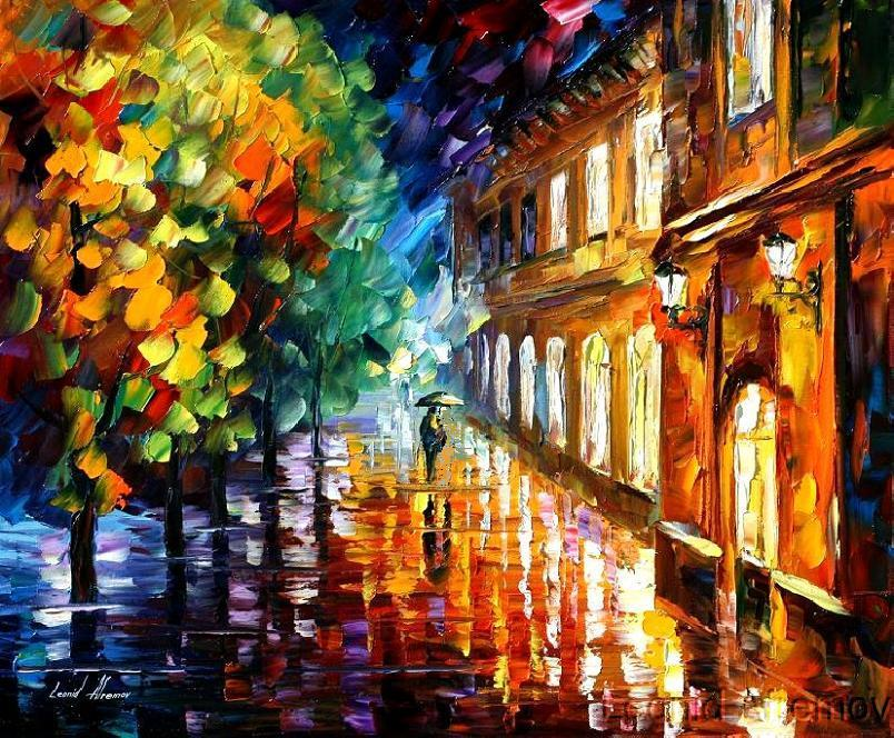 Modern impressionism palette knife oil painting kp009