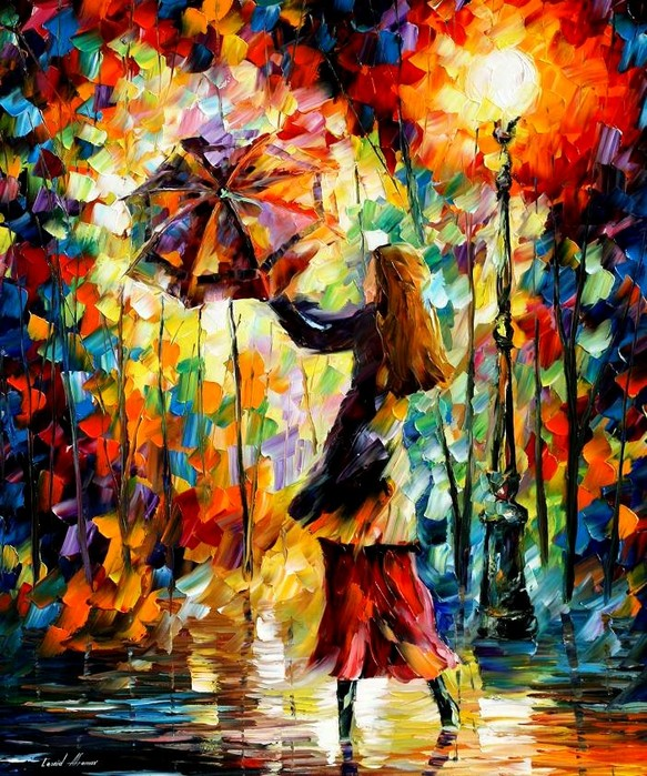 Knife-Painting - Colorful Portrait Painting Modern Palette Knife