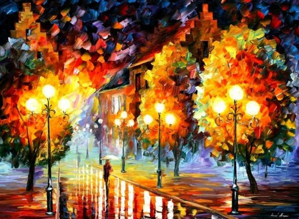 Modern impressionism palette knife oil painting kp016